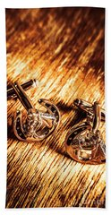 Horse Racing Cuff Links Hand Towel