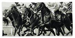 Horse Racing Bath Towel