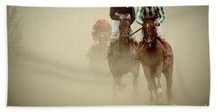 Horse Racing In Dust Hand Towel