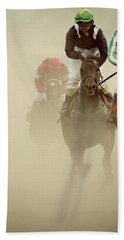 Horse Racing In Dust Hand Towel