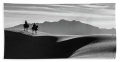 Horseback At White Sands Hand Towel