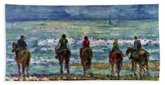 Horseback Beach Memories Hand Towel
