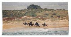 Horseback Riding On The Beach Hand Towel