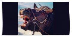 Horse Bare Teeth Hand Towel by Ippei Uchida
