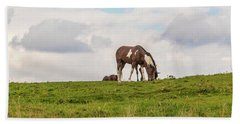Horses And Clouds Hand Towel