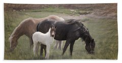 Horses And Colt  Hand Towel
