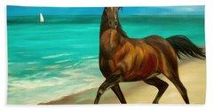 Horses In Paradise  Dance Hand Towel