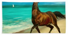 Horses In Paradise  Dance Bath Towel