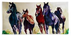 Horses In Wild Hand Towel