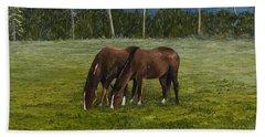 Horses Of Romance Bath Towel