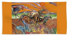 Horses Of The Ardeche Valley France Bath Towel