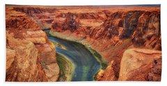 Bath Towel featuring the photograph Horseshoe Bend Arizona - Colorado River #2 by Jennifer Rondinelli Reilly - Fine Art Photography