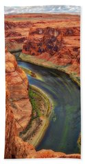 Hand Towel featuring the photograph Horseshoe Bend Arizona - Colorado River #3 by Jennifer Rondinelli Reilly - Fine Art Photography