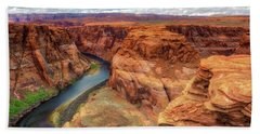 Hand Towel featuring the photograph Horseshoe Bend Arizona - Colorado River $4 by Jennifer Rondinelli Reilly - Fine Art Photography