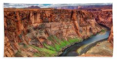 Hand Towel featuring the photograph Horseshoe Bend Arizona - Colorado River #5 by Jennifer Rondinelli Reilly - Fine Art Photography