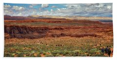 Hand Towel featuring the photograph Horseshoe Bend  - Arizona by Jennifer Rondinelli Reilly - Fine Art Photography