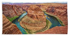Hand Towel featuring the photograph Horseshoe Bend - Colorado River - Arizona by Jennifer Rondinelli Reilly - Fine Art Photography