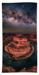 Horseshoe Bend With Milkyway Hand Towel