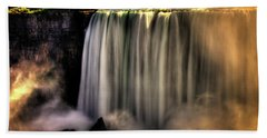 Horseshoe Falls Early Autumn No 03 Bath Towel