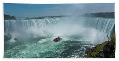 Bath Towel featuring the photograph Horseshoe Falls Hornblower by Brenda Jacobs