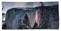 Horsetail Waterfall Glow 2017 Hand Towel