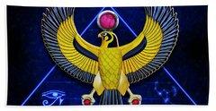 Horus Egyptian Sun God Bath Towel