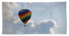 Hand Towel featuring the photograph Hot Air Balloon by Angela Murdock