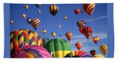 Beautiful Balloons On Blue Sky Bath Towel