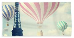 Hot Air Balloons In Paris Bath Towel