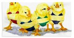 Hot Chicks...henpecking Not Allowed Bath Towel