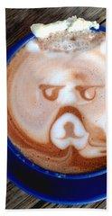 Hot Chocolate Bear Hand Towel