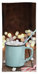 Bath Towel featuring the photograph Hot Cocoa With Mini Marshmallows by Stephanie Frey