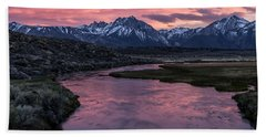 Hot Creek Sunset Hand Towel