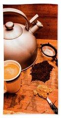 Hot Drink Details. Tea Print Bath Towel