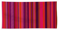 Hot Pink And Orange Stripes - Two Hand Towel