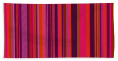 Hot Pink And Orange Stripes - Two Bath Towel
