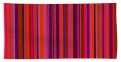 Hot Pink And Orange Stripes Bath Towel
