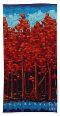 Hot Reds Hand Towel by Holly Carmichael