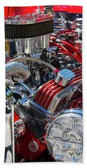 Hot Rod Engine Hand Towel by Arthur Dodd