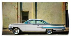 Hot Rod Impala Hand Towel by Craig J Satterlee