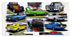 Hot Rods Forever Bath Towel