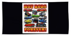 Hot Rods Forever Hand Towel