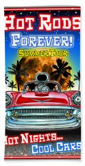 Hot Rods Forever Summer Tour Bath Towel