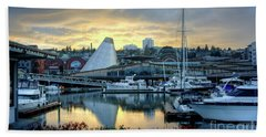 Bath Towel featuring the photograph Hot Shop Cone Cloudy Twilight by Chris Anderson