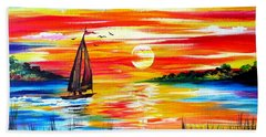 Hot Summer Sunset  Bath Towel