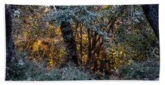 Hot Sunset In The Forest Hand Towel
