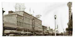Hotel Cominos On Main Street In Salinas, Calif. Circa 1932 Zan Stark Photo # 423  Bath Towel