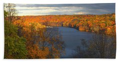 Hand Towel featuring the photograph Housatonic In Autumn by Karol Livote