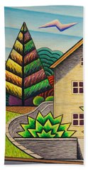 House By Pierce Park-fluorescent Hand Towel