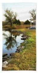 House By The Edge Of The Lake Bath Towel by Jill Battaglia